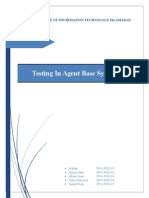 Agent Based Testing Report