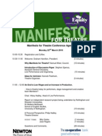 Manifesto for Theatre Conference Agenda M4TC10