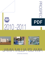Prospectus of Jamia Millia Islamia