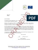 Përgjigjia e Komisionit të Venecias