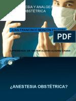 ANESTESIA  y ANALGESIA OBSTETRICA