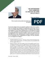 Antinomias en El Derecho