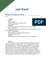 Immanuel Kant-Despre Frumos Si Bine V1 03