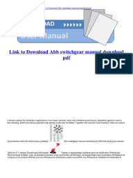 Download Abb Switchgear manual 11