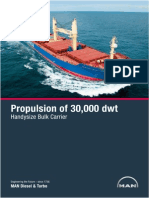 MAN Propulsion of 30000 Dwt Handysize Bulk Carrier