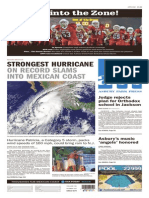 Asbury Park Press front page, Saturday, October 24, 2015