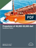 MAN Propulsion of 46000 50000 Dwt Handymax Tanker