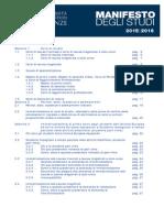 Manifesto Degli Studi 2015 2016