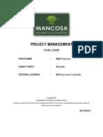 MBA - Project Management Jan 2013