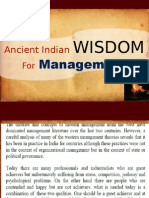 Ancient Indian Wisdom for Management