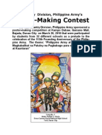 10th Infantry Division Kampo Dabaw Poster-Making Contest 113th Philippine Army Anniversary