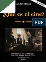 ¿Que es el cine? Andre Bazin . PDF
