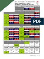 Itinerario Oficial 2015-16