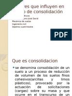 Factores Que Influyen en El Tipo de Consolidación