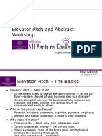Elevator Pitch Workshop