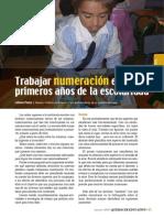 Trabajar Numeración en Los Primeros Años en La Escuela. Articulo de Quehacer Educativo