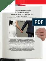 Renovación de Las Nulidades Matrimoniales