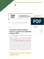 [Tutorial] Contoh Analisis Regresi Logistik biner_dikotomi dengan SPSS - Statistik Ceria.pdf
