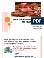 Nutritional Contribution of Meat and Poultry