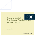Medical Terminology Translation Teaching with Parallel Corpus