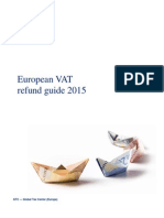 Dttl Tax European Vat Refund Guide 2015
