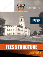 Makerere University Undergraduate Fees Structure 2015/2016
