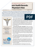 Ehr a Physicians View