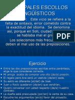 Principales Escollos Lingüísticos y Terminos Relacionantes - (1)