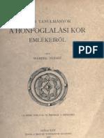 Hampel Jozsef - Ujabb Tanulmanyok a Honfoglalasi Kor Emlekeirol (1907)