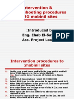 Intervention & Troubleshooting for Common Alarms Procdures for 3G Mobinil Sites