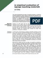ELLIS_1997_empirical Evaluation of Language Teaching Materials