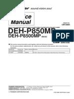 Pioneer Deh p850mp,Deh p8500mp