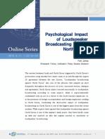 Psychological Impact of Loudspeaker Broadcasting Against North Korea