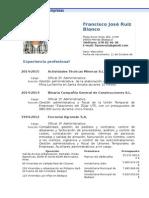 Currículo Francisco José Ruiz Blanco
