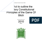 An Act to Outline the Statutory Constitutional Principles of the Game of Bitch (Complete 1st Edition)