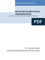 Whitepaper SAP Security Patch Implementation