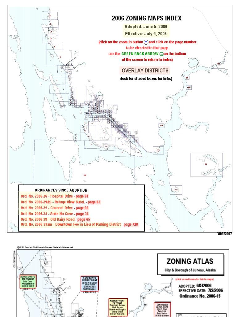 Juneau zoning | Alaska | Map
