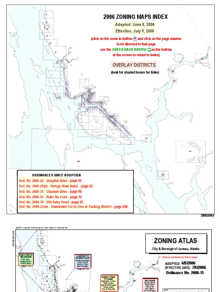 Juneau zoning Alaska Map