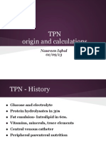 TPN Origin and Calculations