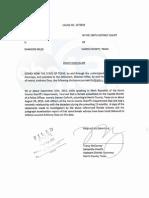 Goforth Document - Harris County - Brady Notice