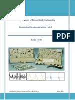 Biomedical Instrumentation Lab 1