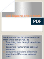 Chi Square and T-tests, Neelam Zafar & Group