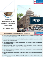 Analyst Press Meet for Quarter Ended March 2015