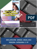 Renta Tercera Categoria 2013