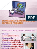 Entrevista y Evaluación Del Enfermo Psíquico
