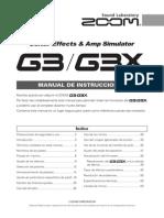 Manual ZOOM G3X Espanol