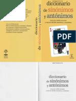 Diccionario de Sinonimos y Antonimos Del Espanol