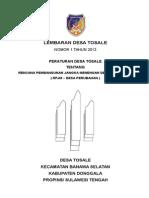 RPJMDesa TOSALE 2013