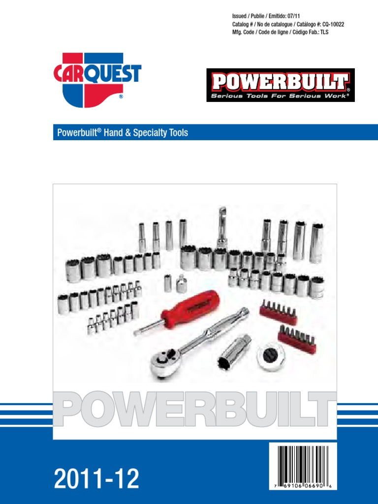 Powerbuilt Slotted Screwdriver 1//4-Inch x 6-Inch 646013