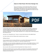 A Beautiful Solar Home in Utah Nears Net Zero Energy Use